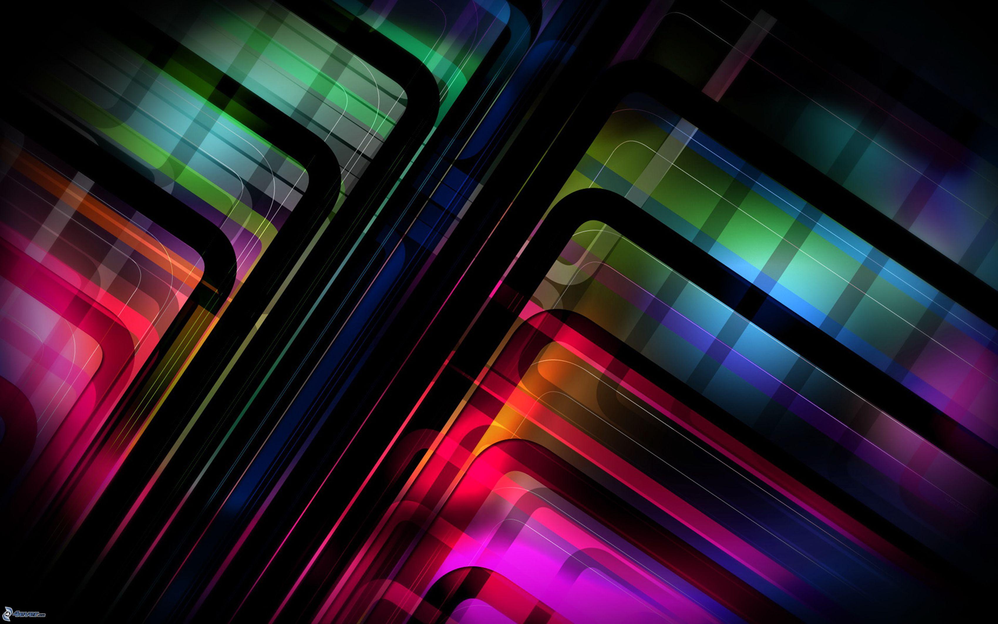 Publicidad Imagenes Abstractas: Líneas Abstractas De Colores