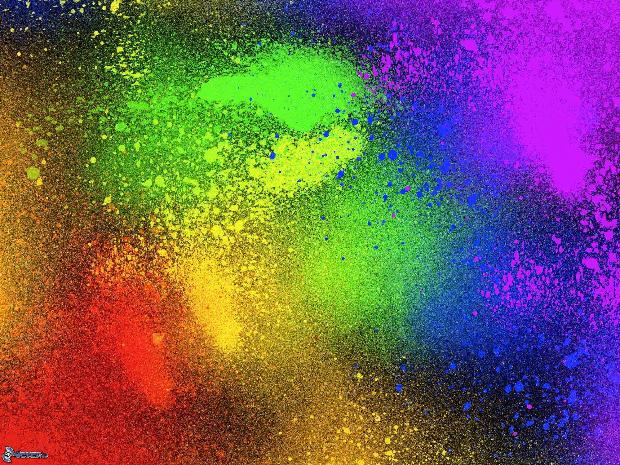 Яркая разноцветная картинка