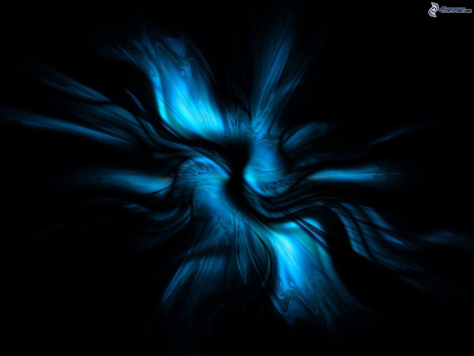 Ondas azules abstractas