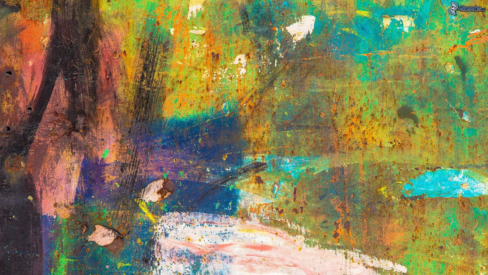 Pintura abstracta for Imagenes de cuadros abstractos faciles
