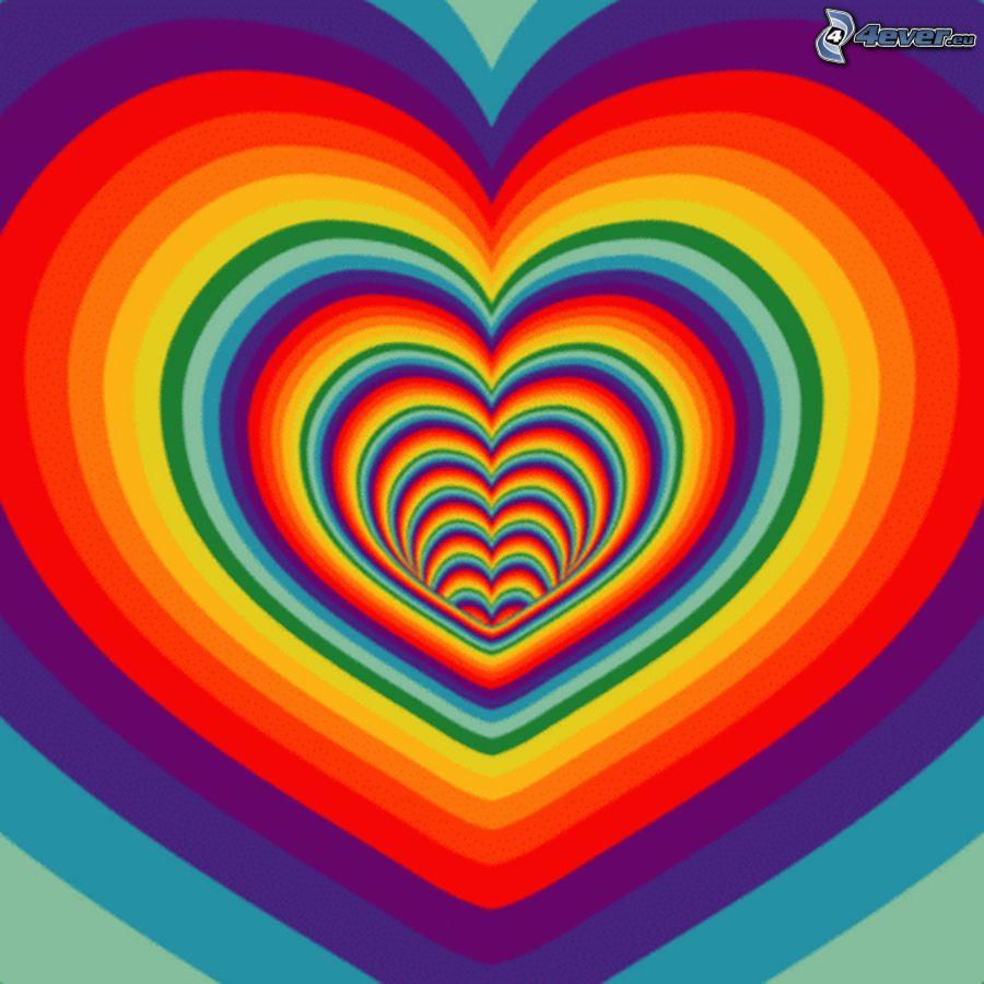 Corazones de color for De colores de colores