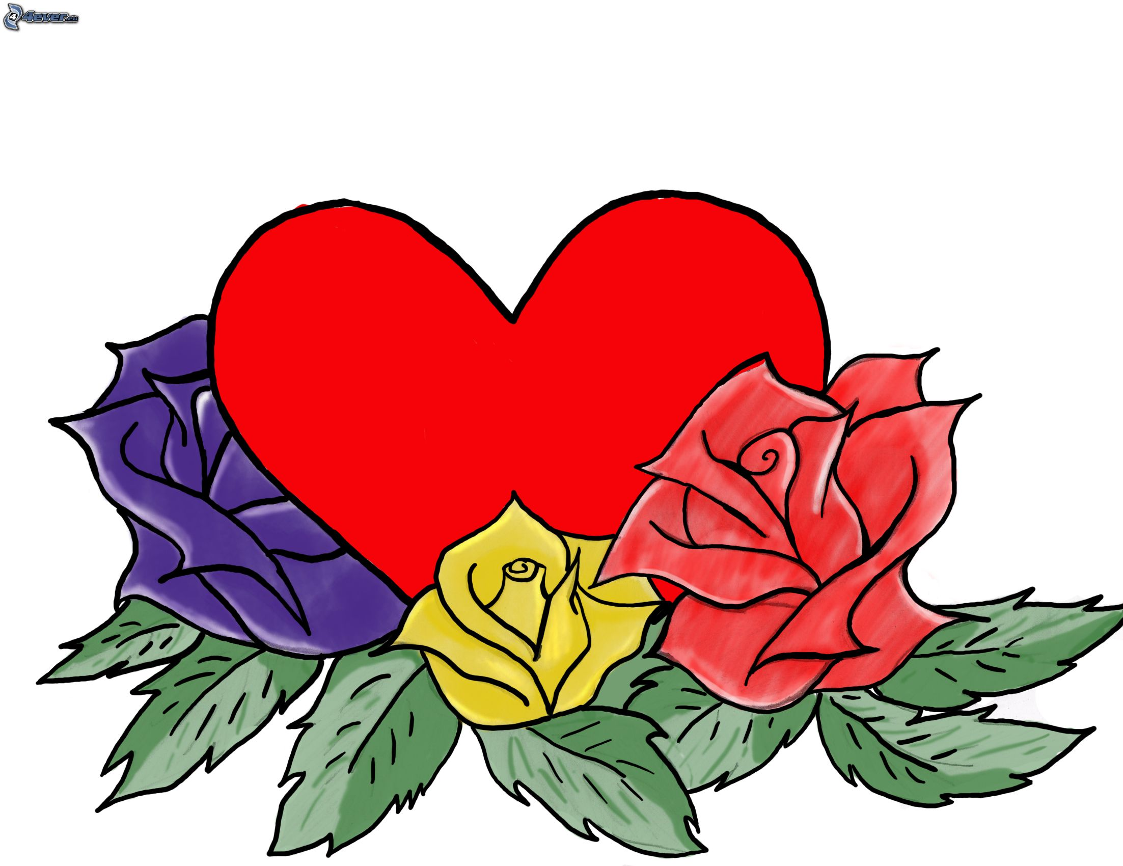 imagenes de corazones con rosas