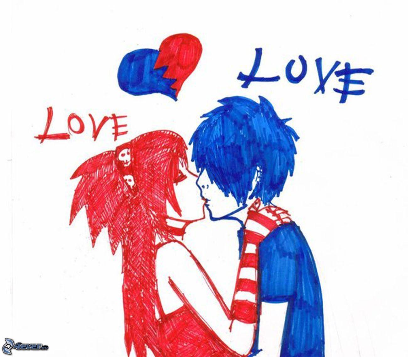 Dibujos Animados De Amor Emo