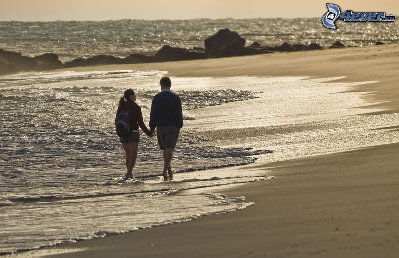 beach pareja