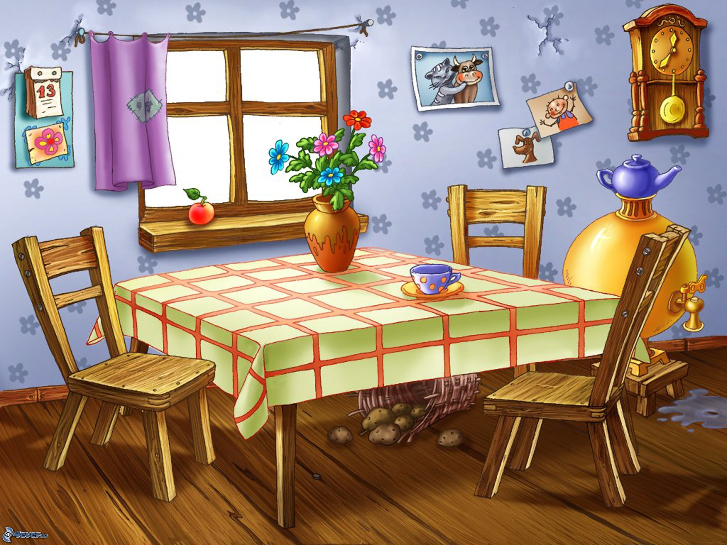 Cocina for Dining room y sus partes