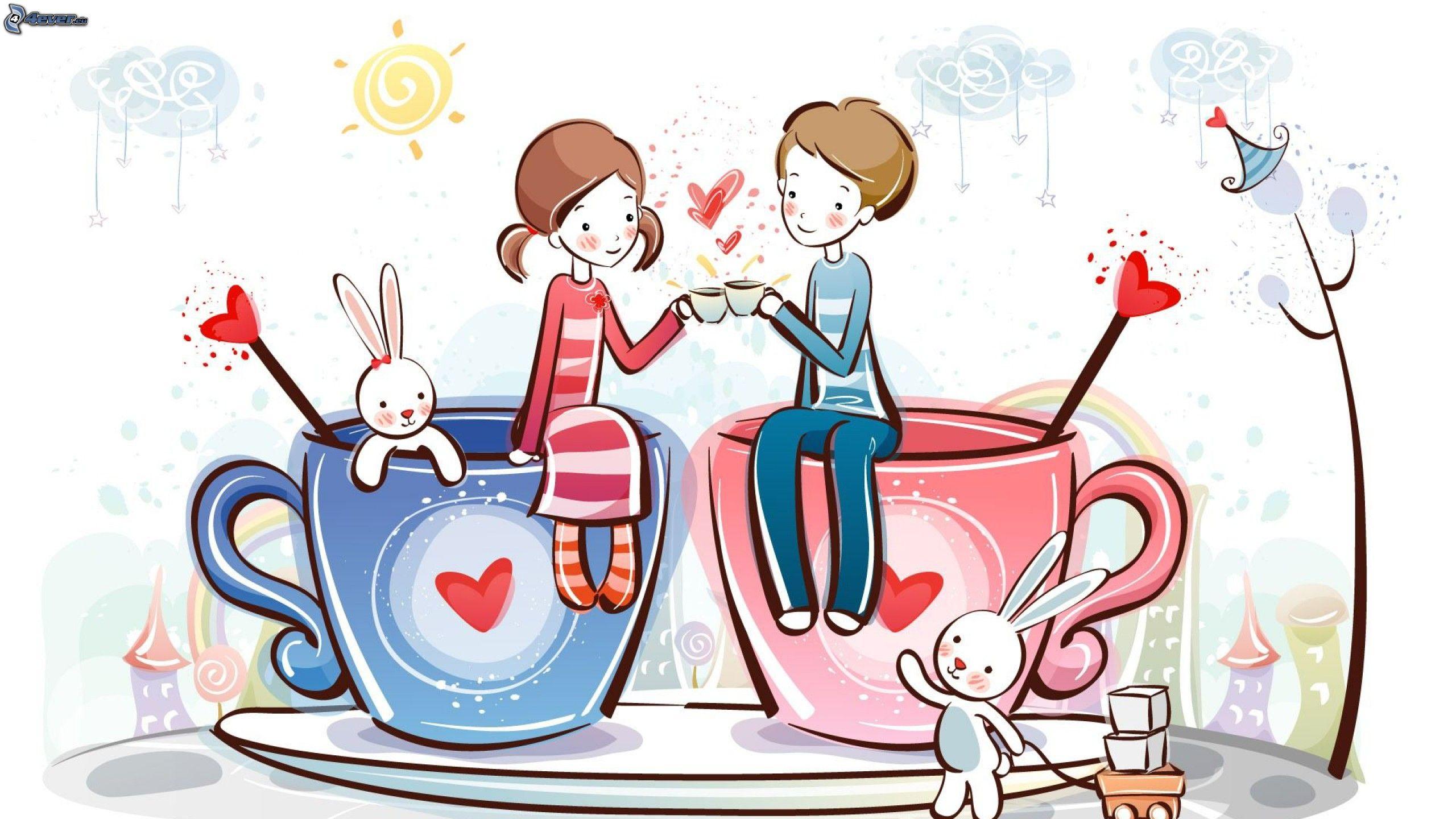Dibujos animados de pareja