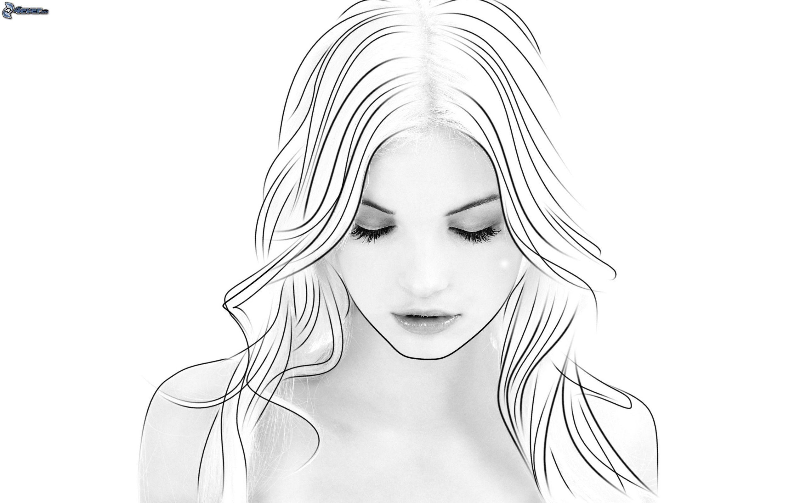 Rostro de mujer hermosa