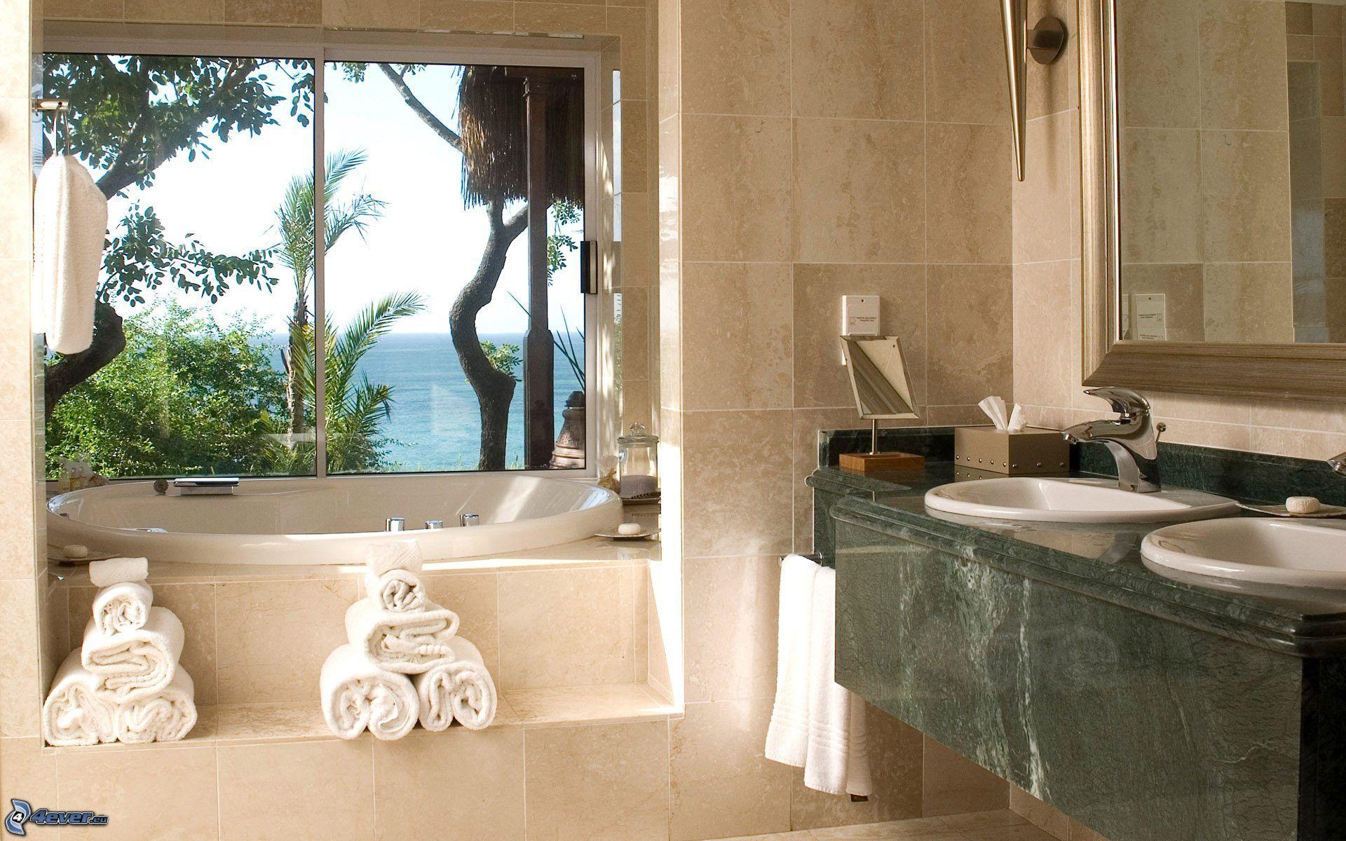 Baños Con Vista Al Mar:cuarto-de-bano,-bano,-lavabos,-vista-al-mar-192797jpg