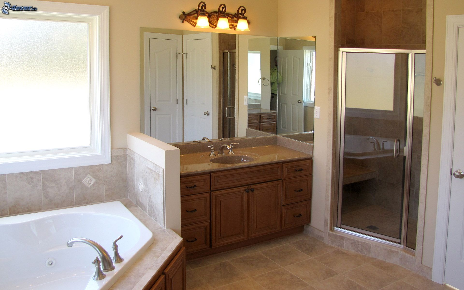 Lamparas Para El Baño:cuarto-de-bano,-lavabo,-espejo,-bano,-lampara,-ventana-192792jpg