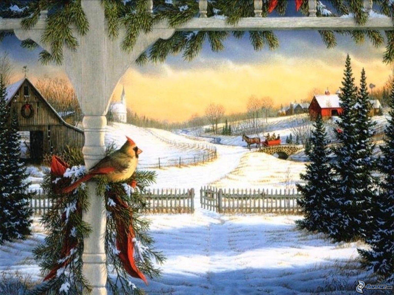 Paisaje nevado - Paisaje nevado navidad ...