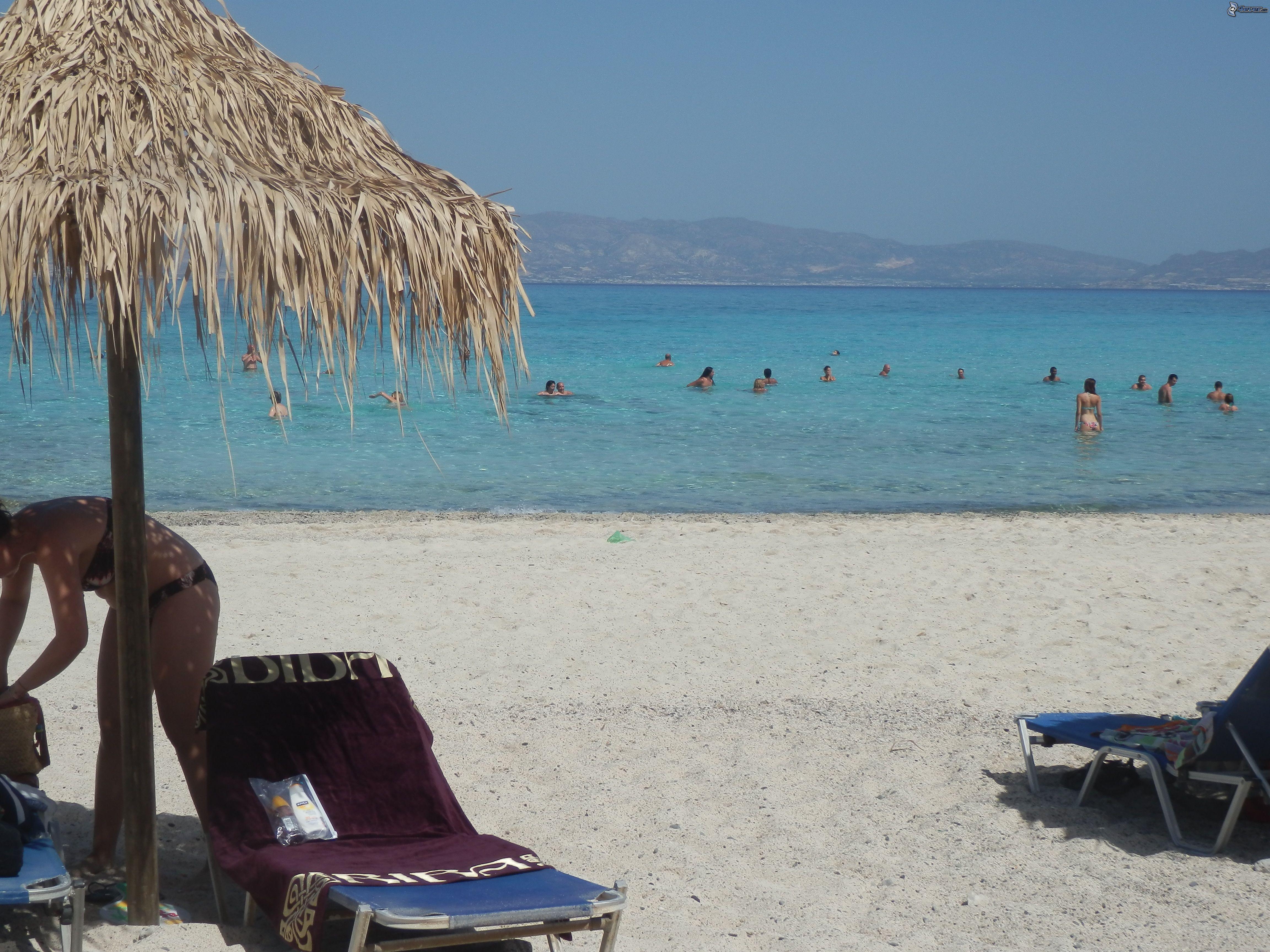 Sombrilla en la playa - Sombrilla playa ...
