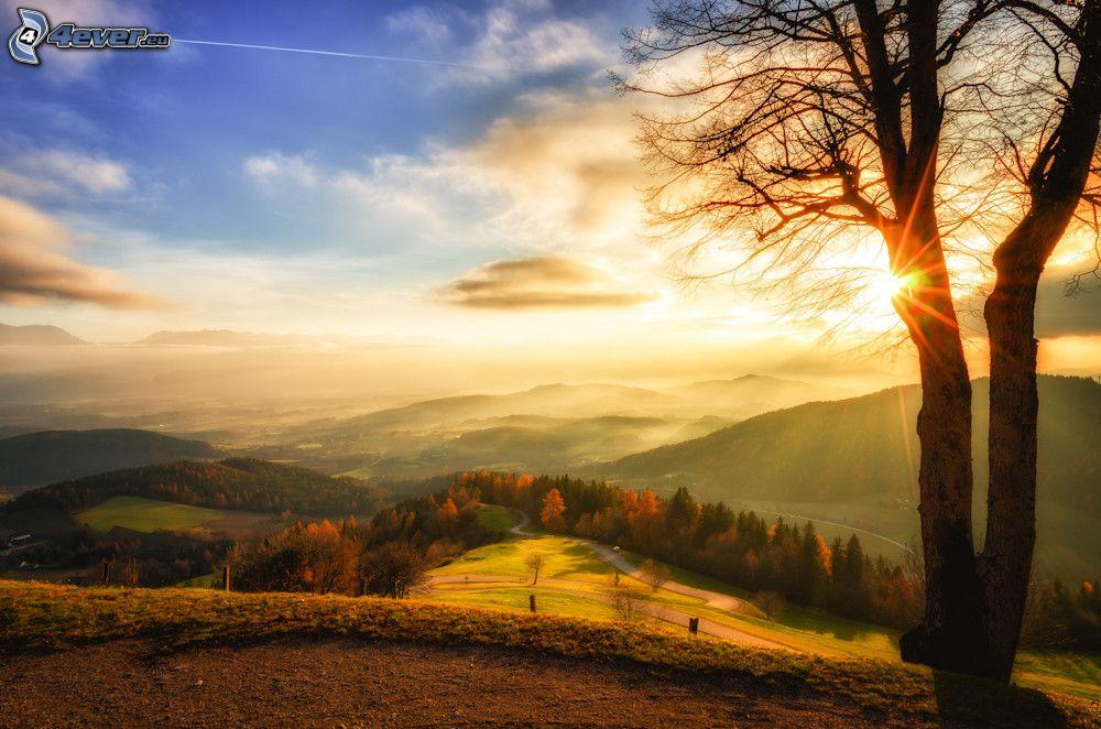 Resultado de imagen de puesta de sol en otoño