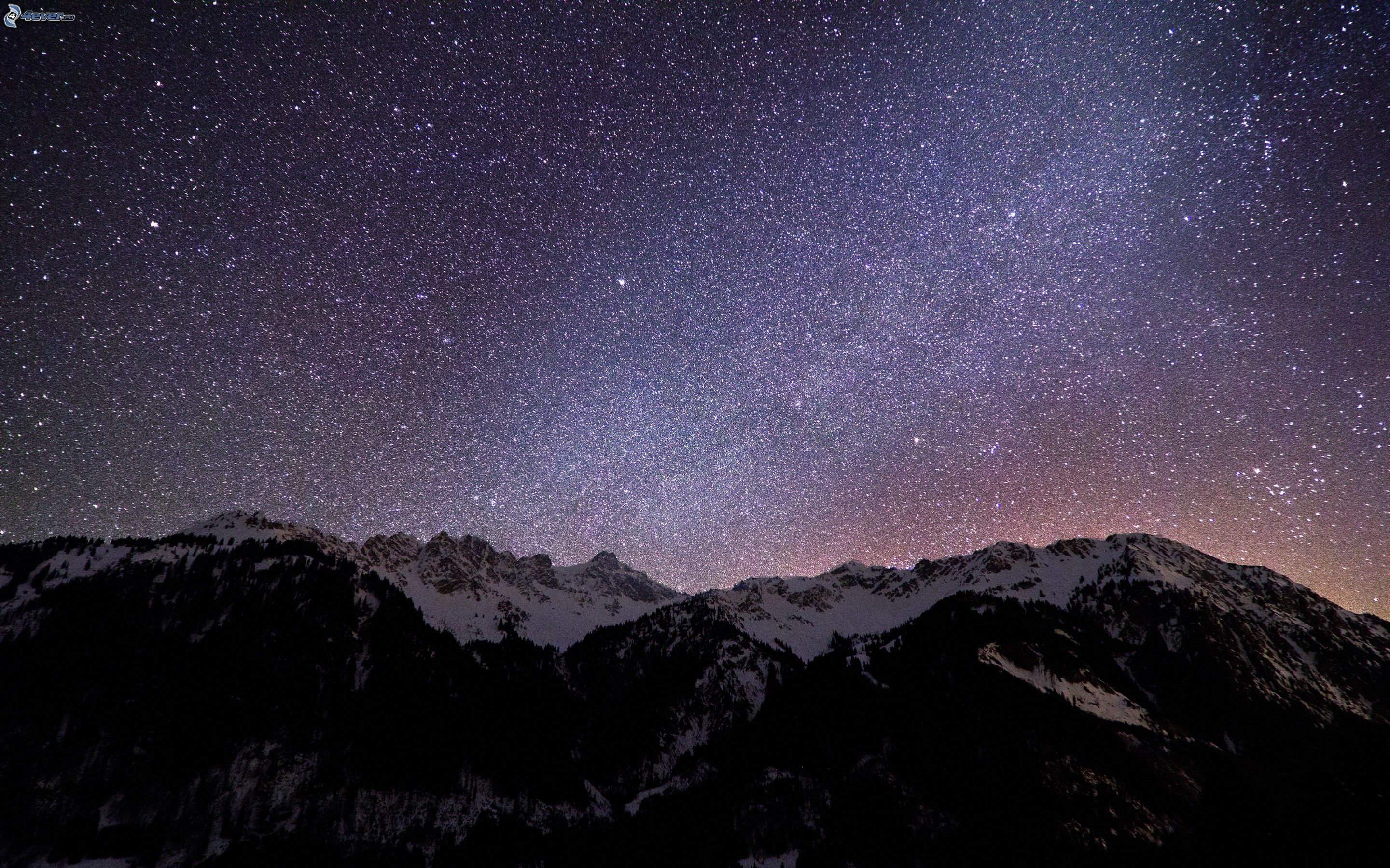 1366x768 mountain night stars - photo #21